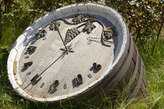 Sundial. Made from the wine keg Stock Image