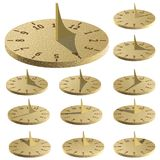 Sundial. Measure time by the sun. stock illustration