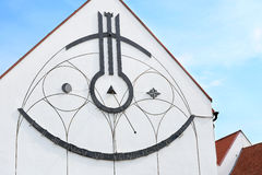 Sundial na budynku Fotografia Stock
