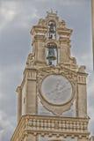 Sundial na zegarowy wierza Zdjęcie Royalty Free