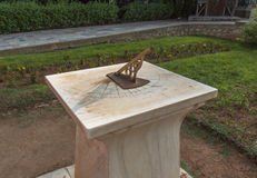 Sundial in National Garden of Athens photo. Greece. Stock Photo