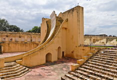 Sundial Observatory At Jantar Mantar. The Giant Sundial, known as the Samrat Yantra (The Supreme Instrument) is the world's largest sundial at Jaipur Jantar Stock Images