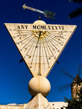 Sundial in palma, mallorca Royalty Free Stock Photo