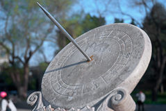 Sundial. A sundial in a park, Beijing, China Royalty Free Stock Photo