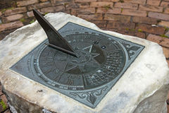 Sundial in parks Royalty Free Stock Image