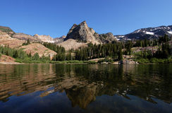 Sundial Peak and Lake Blanche. Sundial Peak in the Wasatch front Utah Royalty Free Stock Photo