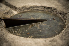 Sundial set in stone Stock Image