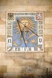 Sundial przy Liebieg domem Frankfurt Obrazy Stock