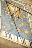 Sundial przy Liebieg domem Frankfurt Zdjęcia Stock