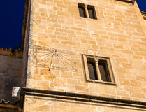 Sundial at the Salvador Church in Ubeda, Spain Royalty Free Stock Image