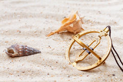 Sundial in the sand Stock Photography