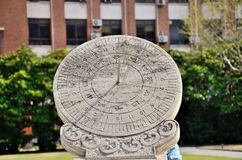 Sundial in shanghai Stock Images
