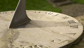 Sundial showing hour Stock Images