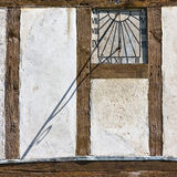 Sundial on Side of Building Royalty Free Stock Images