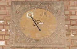 Sundial, solar clock. Stock Image