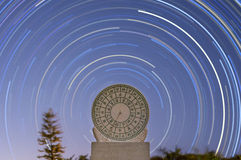 Sundial and Star trail Stock Photography