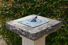 Sundial on a stone pedestal Stock Photography