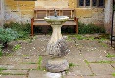 Sundial, Sudeley Castle church garden, Winchcombe, England Stock Photography