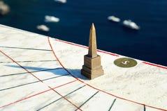 Sundial sull'isola di Capri fotografie stock libere da diritti