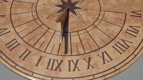Sundial time-lapse stock footage
