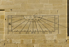 Sundial. In the town of Ubeda, Jaen province, Spain Stock Images