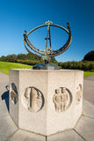 Sundial in Vigeland park in Oslo. OSLO, NORWAY - AUGUST 27: Sundial in Vigeland park in Oslo, Norway on August 27, 2012. The park covers 80 acres and features Royalty Free Stock Photos