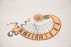 Sundial on the wall Royalty Free Stock Images