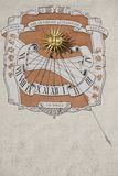 Sundial on the wall of the Grand Duke's palace in Vilnius, Lithuania. Royalty Free Stock Photography