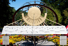 Sundial in zoo, Karlsruhe, Germany Stock Photography