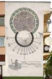 Sundialon墙壁 Wlodawa 波兰 免版税库存照片