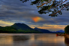 Sundog over Mekong river Stock Images