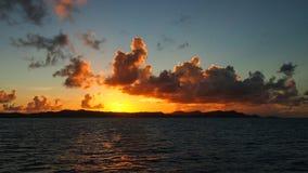 Sundovn在加勒比 库存图片