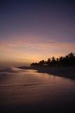Sundown. A sundown on the beach Stock Photography