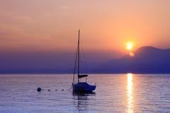 Sundown. At lake Garda, Italy Royalty Free Stock Images