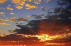 sundown arkivfoton