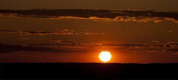 sundown Royaltyfri Fotografi