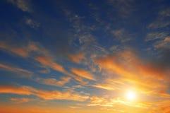 sundown arkivfoto