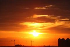 sundown Στοκ Εικόνες