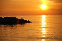 Sundown. A typical sundown in Yalova, Turkey Stock Images