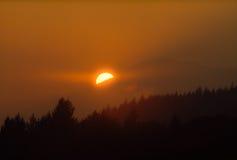 sundown Royaltyfria Bilder
