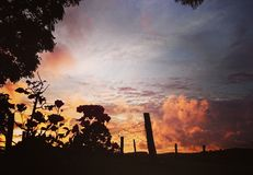 sundown стоковое фото rf