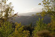Sundown in the Alpujarra Mountains Stock Image