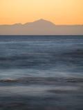Sundown behind Tenerife Stock Photography