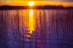 Sundown bokeh Stock Photo