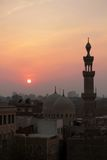 Sundown in Cairo. Royalty Free Stock Image