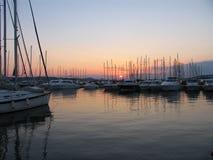 Sundown in capri bay Stock Images