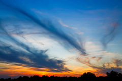 Sundown Clouds Royalty Free Stock Photos