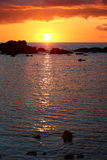 Sundown cuba. Sunset over the carribean sea in cuba Royalty Free Stock Photos