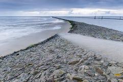 Sundown in East Frisia beach Stock Photography