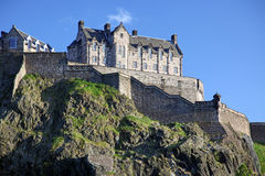 Sundown at Edinburgh Castle , Scotland, UK Royalty Free Stock Photo
